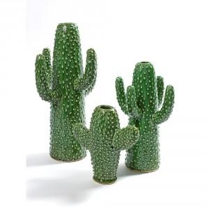 serax+aardewerk+cactus+vaas+in+het+groen+met+opening+bovenkant+voor+1+bloem